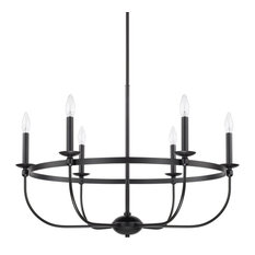Capital Lighting Rylann 6-Light Chandelier 425161MB, Matte Black