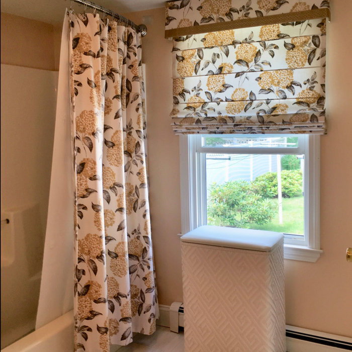 Cottage Update with Fabric Roman Shades