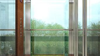 ascensore esterno in cor-ten