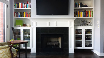 White & Bright Modern Mantel