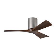 Matthews Atlas Irene 3H Hugger DC Ceiling Fan, Brushed Nickel, 132 cm