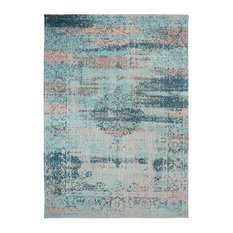 Rye Teal Persian-Style Area Rug, 5'x8'