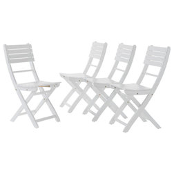 Beach Style Outdoor Dining Chairs by GDFStudio
