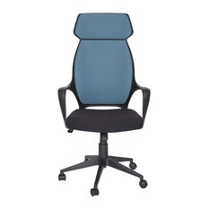 Unique   Blue Modern High Back Fabric Office Chair   Office Chairs