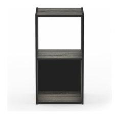 Furinno Pelli Cubic Storage Cabinet, 2x1, French Oak Gray
