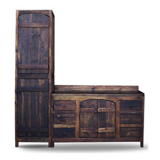 Foxden Decor Old World Reclaimed Barnwood Vanity 72 X22 X36