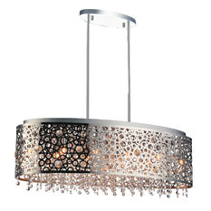 11-Light Chandelier with Chrome Finish
