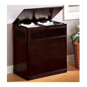 Coaster Cappuccino Wood Laundry Hamper With Removable Canvas Liner