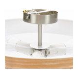 Semi-flush ceiling lamp Libba, cream-wood