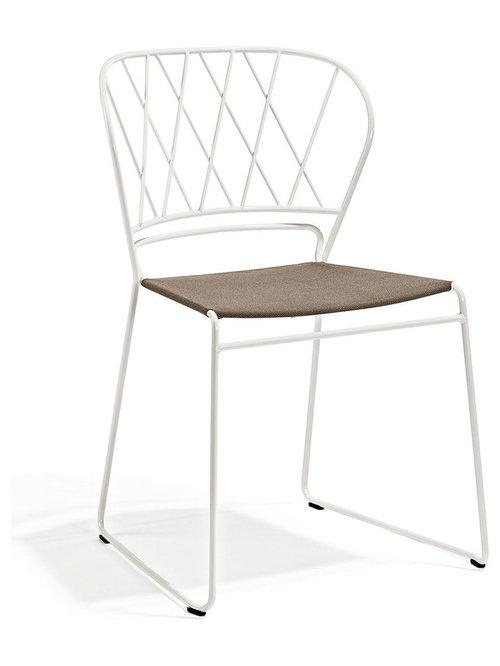 Resö Stol, Vit/Nature - Spisebordsstole