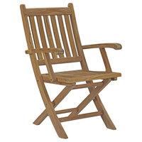 Marina Outdoor Premium Grade A Teak Wood Folding Chair, Natural