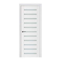 Nova Triplex 028 White Wood Lacquered Modern Interior Door Left Hand
