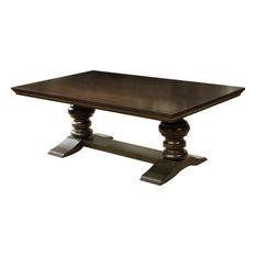 All In One Furniture Traditional Cuccino Rectangular Coffee Table Tables