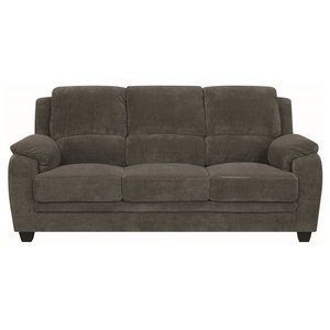Megan Solid Oak Quick Assembly Apartment Sofa, Marine - Transitional