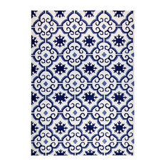 Marrakech Scandinavian Floor Rug, Blue, 140x190 cm