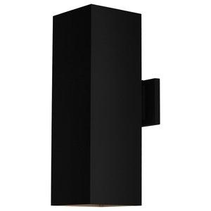Luxury Contemporary Outdoor Wall Light, Madrid Series, Midnight Black