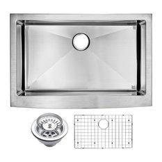 "33"" X 22"" Small Radius Single Bowl Stainless Steel Apron Front Kitchen Sink"