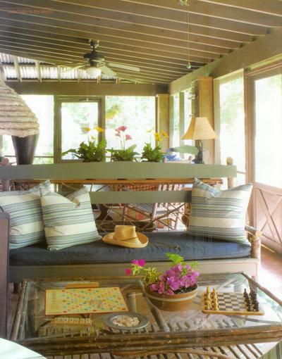 Rustic Porch by Ellen Kennon Design