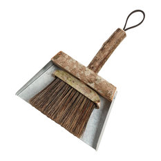 Handmade Wooden Potting Shed Brush and Pan by Geoffrey Fisher Design