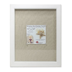 lawrence frames 11x14 white shadow box frame linen inner display board picture frames
