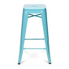 Sugarscout Painted Metal Bar Stool Aqua Stools And Counter