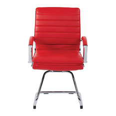 Guest Faux Leather Chair, Red