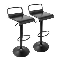 LumiSource Emery Barstool Black Set Of 2