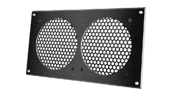 AC INFINITY, Cabinet Ventilation Grill Black, 12 Inch