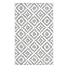 Hand-Tufted Tuscan Vs174 Rug, Gray, 5'x8'