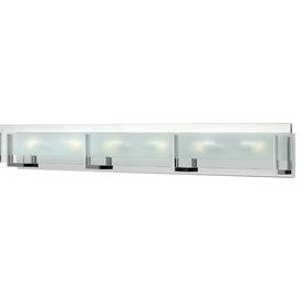 Latitude 6-Light Bath Vanity Chrome Clear Beveled