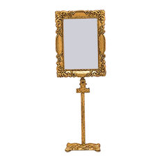 Wedding Star Rectangular Baroque Standing Frame, Gold