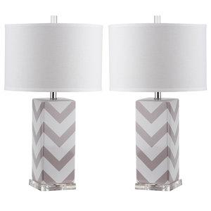 Safavieh Sebastian Table Lamps, Set of 2, Grey