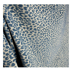 burch - M9818 Delft Chenille Animal Print Blue Upholstery fabric, Sample - Drapery Fabric
