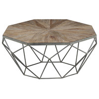 Triumph Metal Coffee Table With Wooden Top