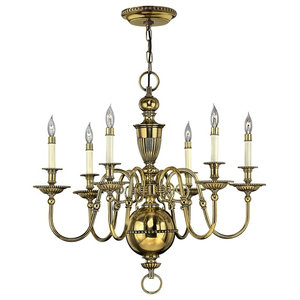 Solid Brass 6-Light Chandelier