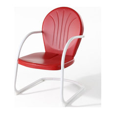 Crosley Griffith Metal Patio Chair in Red
