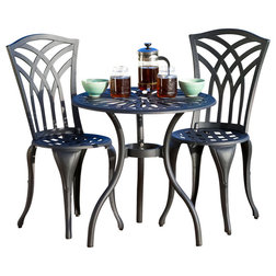 Transitional Outdoor Pub And Bistro Sets by GDFStudio