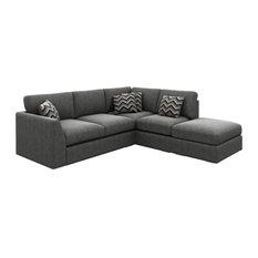 London Corner Sofa, Graphite, Right Facing