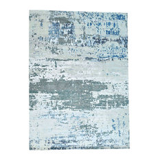 1800 Get A Rug   High And Low Pile Abstract Design Wool And Silk Rug,