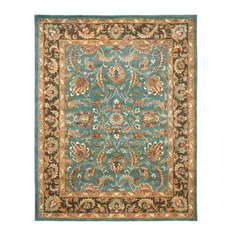 Safavieh Heritage Collection HG812 Rug, Blue/Brown, 9' X 12'