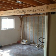 Open concept by removing a load bearing walls