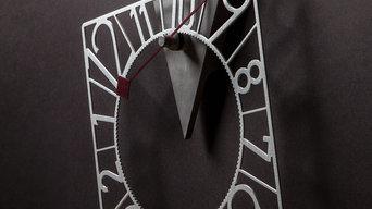 Roll-clock Geometrica Grey