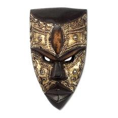 Mbara Hunter African Wood Mask, Ghana