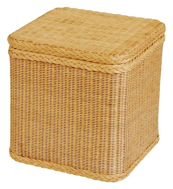 Krines Home rattan laundry basket with lid country laundry baskets by