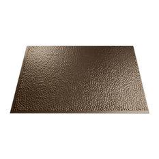 """18""""x24"""" Fasade Hammered Backsplash Panel, Argent Bronze"""