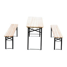 Outsunny 6' Wooden Outdoor Folding Picnic Table Set