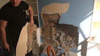 Back to original brickwork Stove Installation