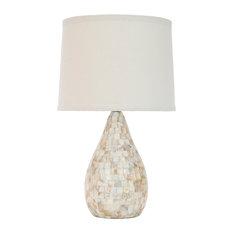 Safavieh - Lauralie Ivory Capiz Shell Lamp - Table Lamps