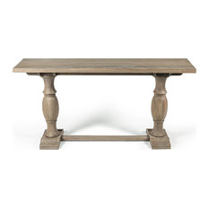 Burton Mango Wood Console Table, Gray wash