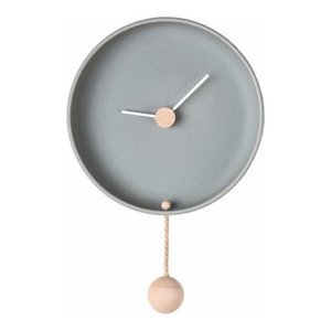 Totide Wall Clock, Grey, Small
